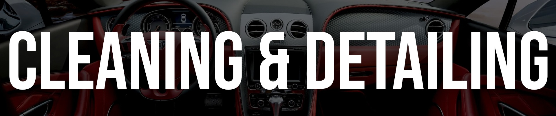 Cleaning & Detailing Banner